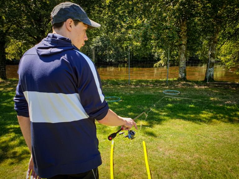 TEP BP JEPS pêche de loisirs tests d'entrée formation bp jeps peche de loisir gestuelle de lancer canne spining